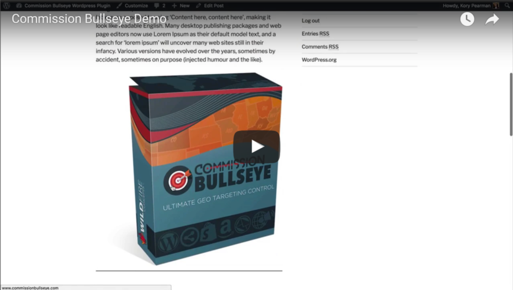 Commission Bullseye Demo Video ~ Read our Full Commission Bullseye Review ~ CountGenius.com
