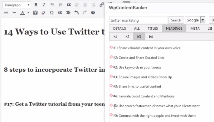 Getting Started With The WP Content Ranker Plugin ~ Read our Full WP Content Ranker Review ~ CountGenius.com